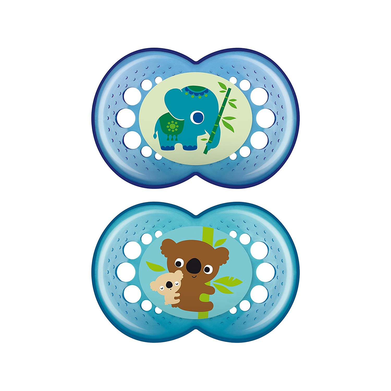MAM Silicone Crystal Pacifier, Boy, 6 Plus Months, 2-Count, (For Boy) C2944-024-4-1