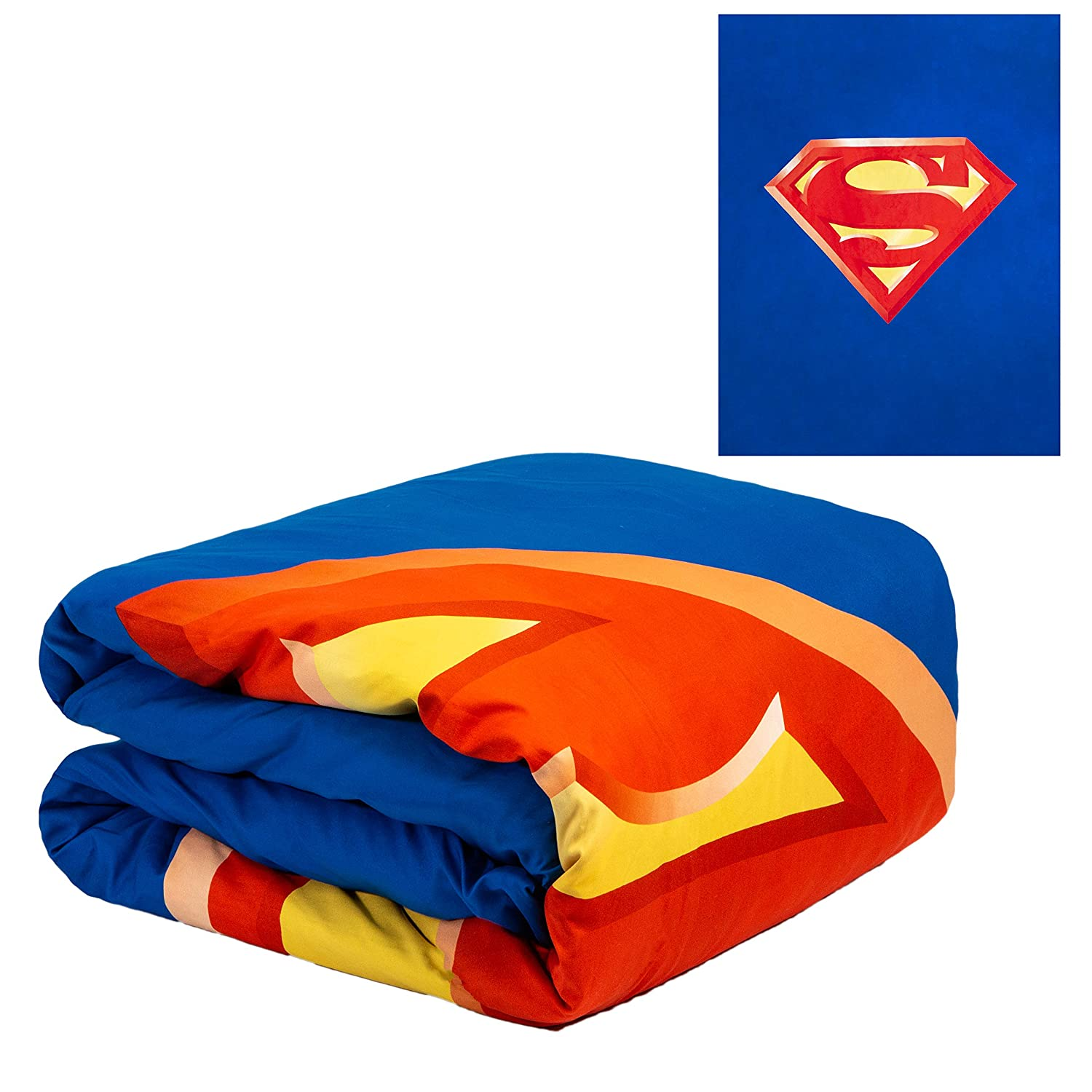 """JPI Comforter Set Twin - Superman Shield - Twin Bed 86""""x 68"""" with 1 Pillow Sham - Compliments Bed Sheet Set, Bed Skirt, Quilts Queen Size, Queen Bed Set, King Size Bed"""