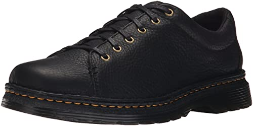 Dr.Martens Mens Lubbock Grizzly Black Leather Shoes 43 EU qmn89