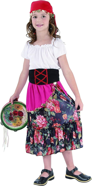 Disfraz de gitana para niña: Amazon.es: Juguetes y juegos
