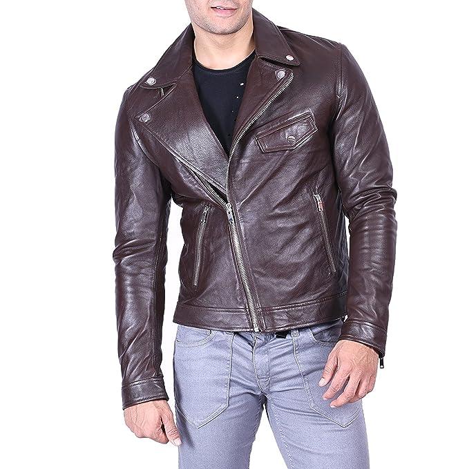 Amazon.com: Sid Hombre Clásico chamarra de moto de estilo ...