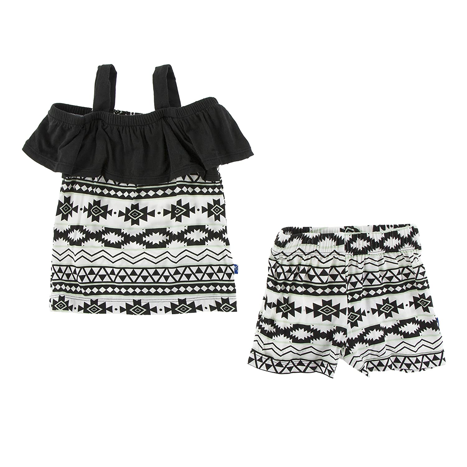 Natural Mayan Pattern - 2T Print Cancun Outfit Set