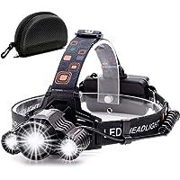 Cobiz Head Torch Light Oplaadbare - 6000 Lumen Xtreme Heldere IPX4 Waterdichte Zoomable 18650 Oplaadbare Led Koplampen…
