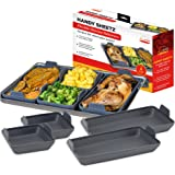 Handy Sheetz Flexible Non-Stick Silicone Bakeware for Mix and Match Sheet Pan Meals for Breakfast, Lunch & Dinner, Easy Clean