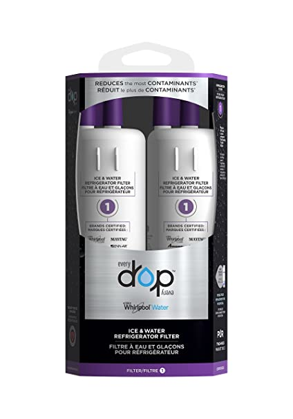 EveryDrop by Whirlpool Water, EDR1RXD2B Filter 1 Refrigerator Water Filter,  (Pack of 2)