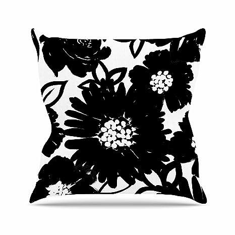 Amazon Com Kess Inhouse Emine Ortega Monochromatic Blooms Black
