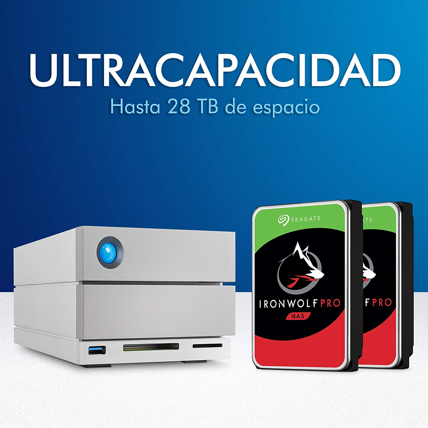 LaCie 2big Dock Thunderbolt 3, 28 TB, Doble Disco Profesional Raid ...