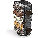 Mind Reader Merry-Go-Round Storage, 30 Capacity, Black