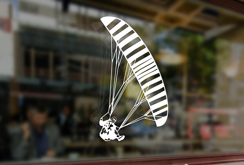 25cm Paragliding Parachutist PPG Vinyl Stickers Funny Decals Bumper Car Auto Computer Laptop Wall Window Glass Skateboard Snowboard