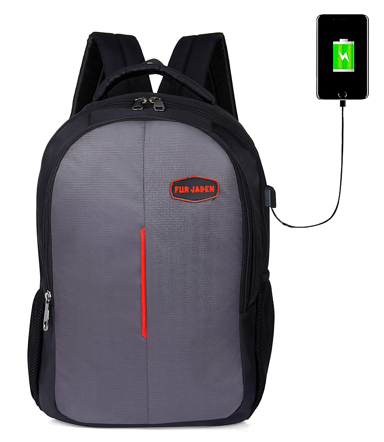 FUR JADEN USB Charging School and College 25 Ltrs Grey
