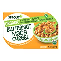 Sprout Organic Baby Food Toddler Meal, Butternut Mac & Cheese, 5 Ounce (Pack of 8)