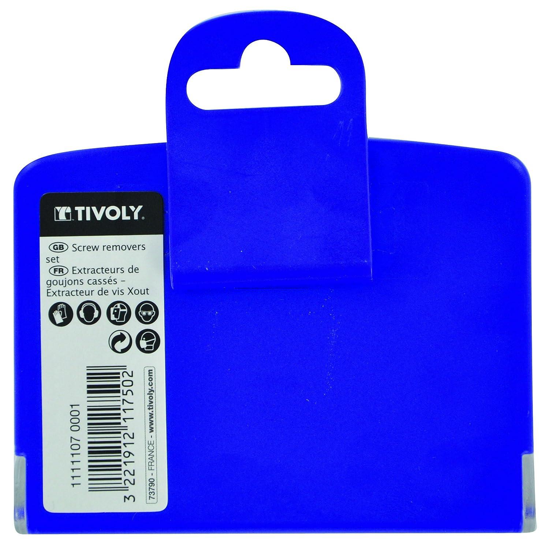 TIVOLY 11111070001 Juego Extractor de clavos y extractor de tornillos TECHNIC Envase de 6 pz.