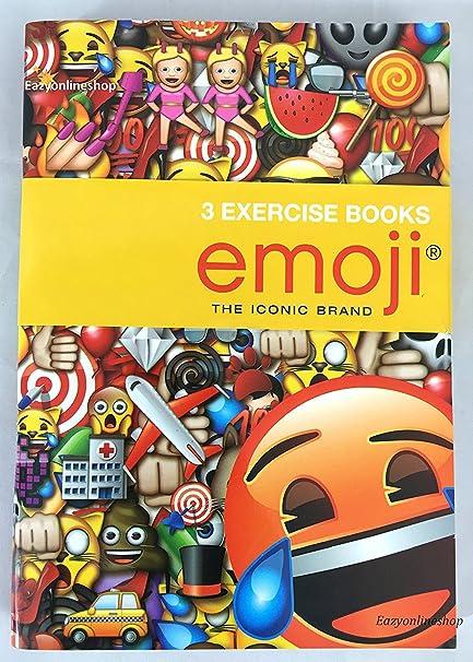 Pack de 3 A5 Emoji funda escuela estudiante libro de ejercicios lección libro Notebook: Amazon.es: Oficina y papelería
