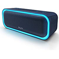 DOSS SoundBox Pro Portable Wireless Bluetooth Speaker V4.2 with 20W Stereo Sound, Active Extra Bass, Wireless Stereo Paring, Multiple Colors Lights, Waterproof IPX5, 10 Hrs Battery Life - Blue