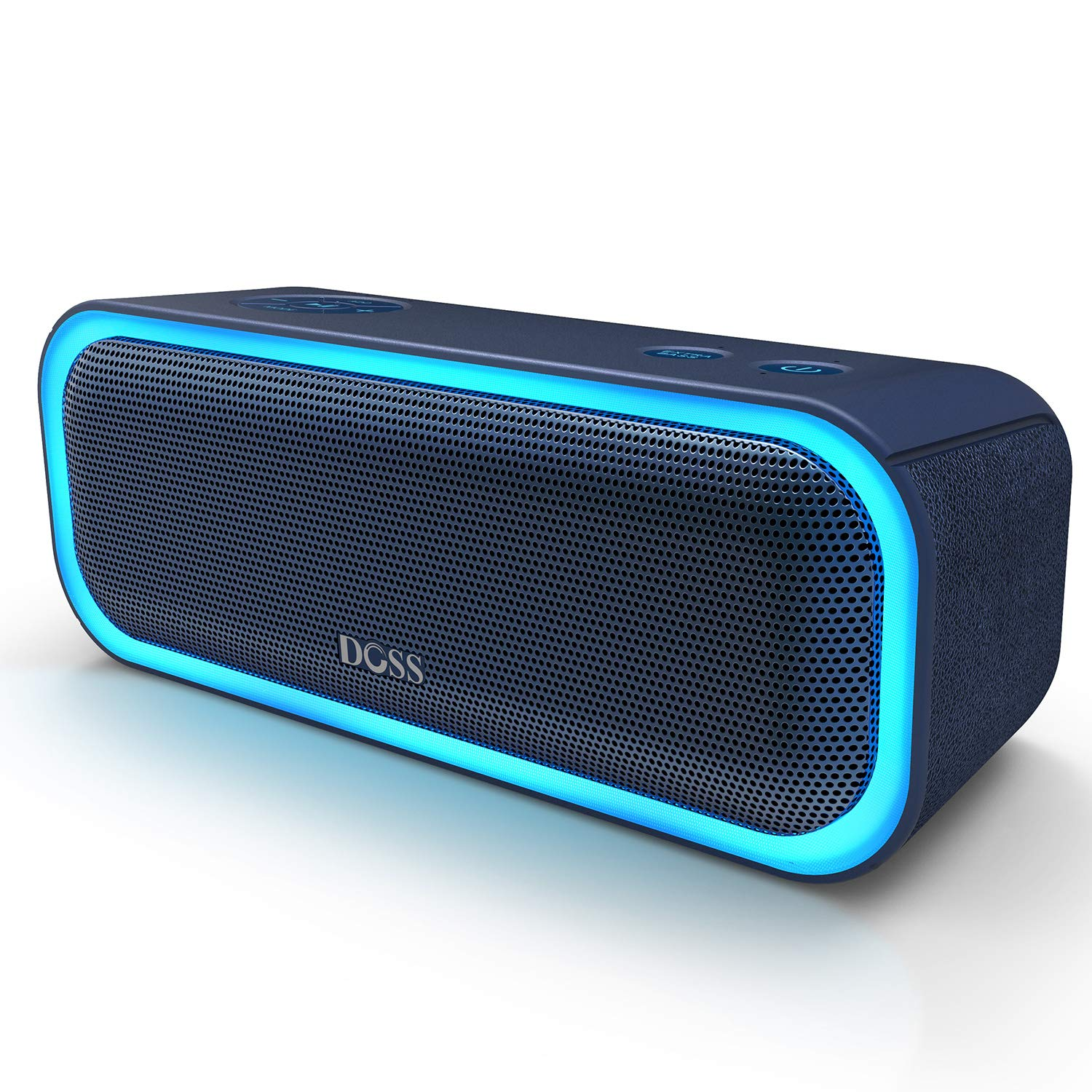 DOSS SoundBox Pro Portable Wireless Bluetooth Speaker V4.2 with 20W Stereo Sound, Active Extra Bass, Wireless Stereo Paring, Multiple Colors Lights, Waterproof IPX5, 10 Hrs Battery Life - Blue DOSSDirect