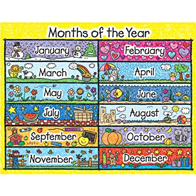 Carson Dellosa Months of The Year Chart (6394): Toys & Games