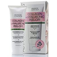 Advanced Clinicals Collagen + Hyaluronic Acid Anti-Aging Peel-Off Face Mask Hydrating...