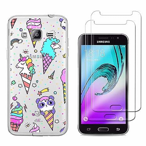 Funda Samsung Galaxy J3 2016 SM-J320F Helado de Unicornio ...