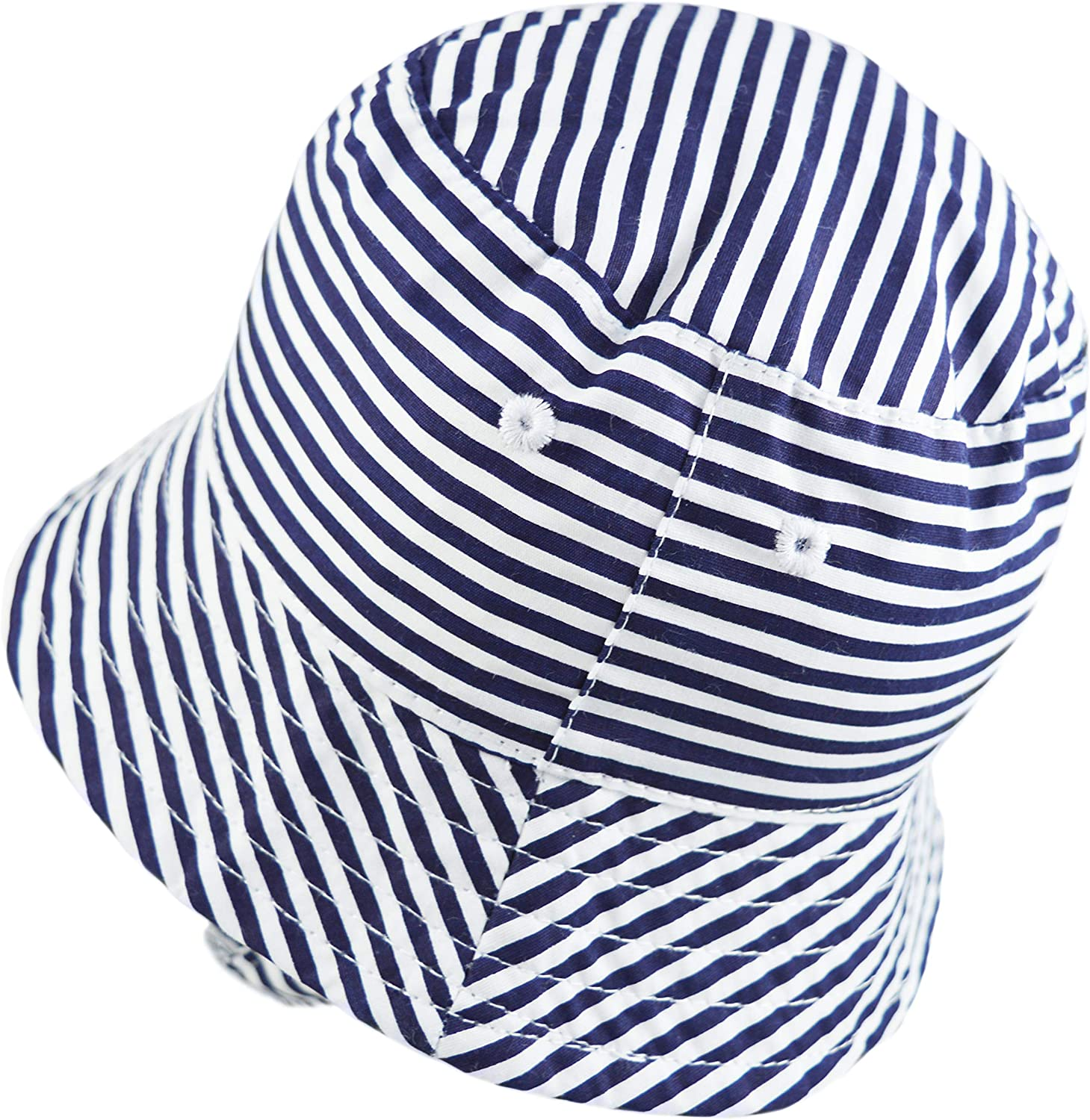 Pesci Baby Boys Bucket Hats Summer Sun Hat with Chin Strap Cotton Stripes