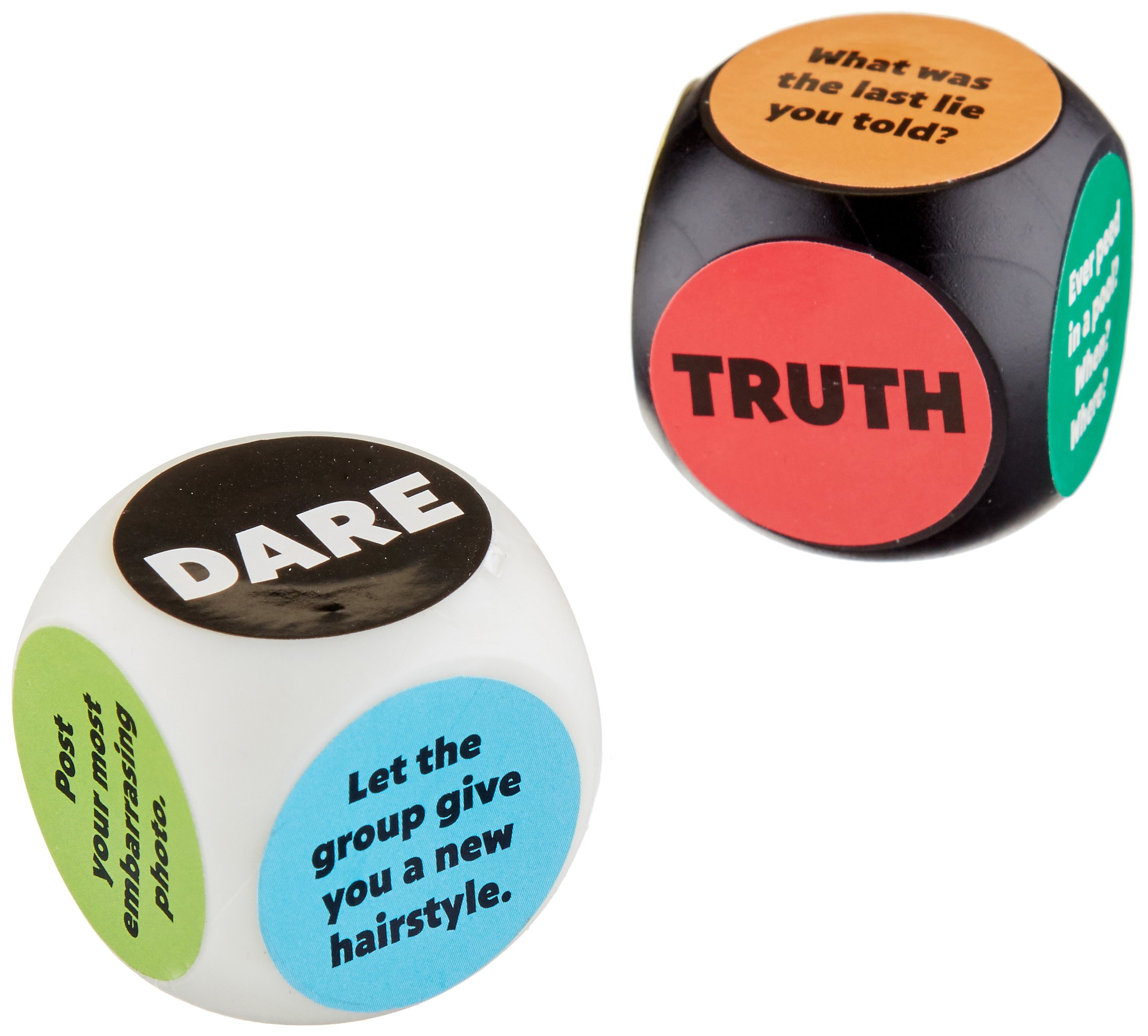 Amscan Fun Filled Truth Or Dare Dice Game Party Supplies (6 Piece), Black/White/Red, 5'' X 4''