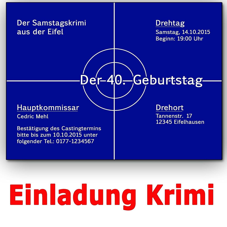 Einladungskarten Krimi Ideal Für Mottoparty Tatort Einladung Geburtstag (30  Stück): Amazon.de: Bürobedarf U0026 Schreibwaren