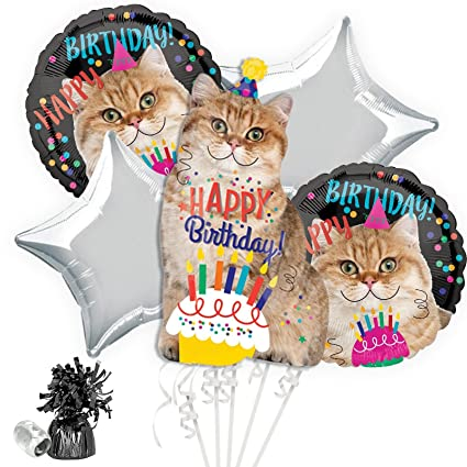 Amazon.com: Kit de gato ramo de globos de cumpleaños: Toys ...