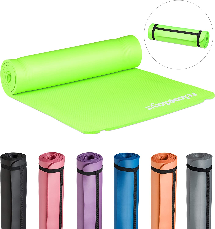 HBT: 1/x 61,5/x 182/cm Aerobic /Esterilla Acolchada /Ejercicios/ Relaxdays/ Gimnasia 1/cm de Grosor para Pilates