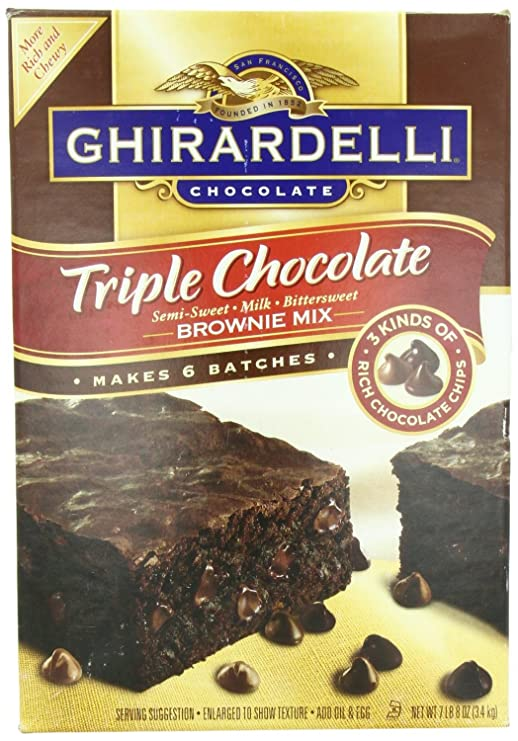 Ghirardelli Triple Chocolate Brownie Mix 7lb/3.4kg Makes 6 Batches: Amazon.es: Alimentación y bebidas