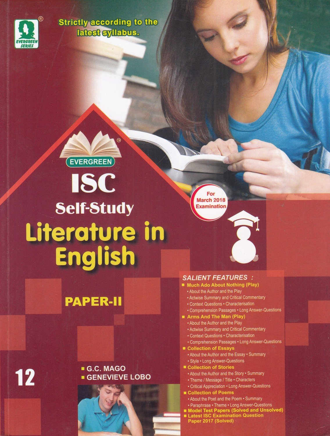 in buy isc self study in literature in english paper  in buy isc self study in literature in english paper 2 for 2018 examination class 12 book online at low prices in isc self study in
