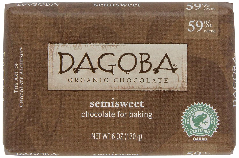Amazon.com : DAGOBA Organic Semisweet Baking Chocolate, 59% Cacao ...