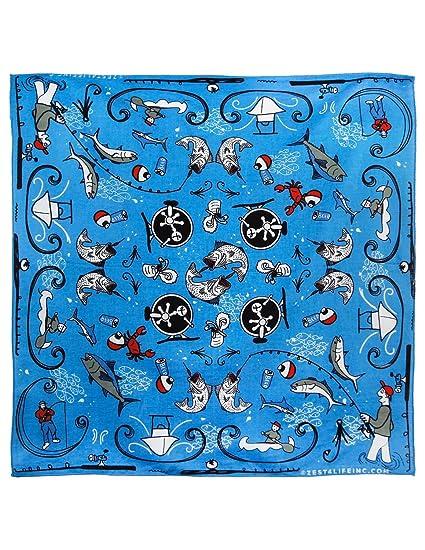 Amazon.com  Zest For Life Fisherman Fishing Bandana Handkerchief 22x22  inches  Clothing c5064b543afc
