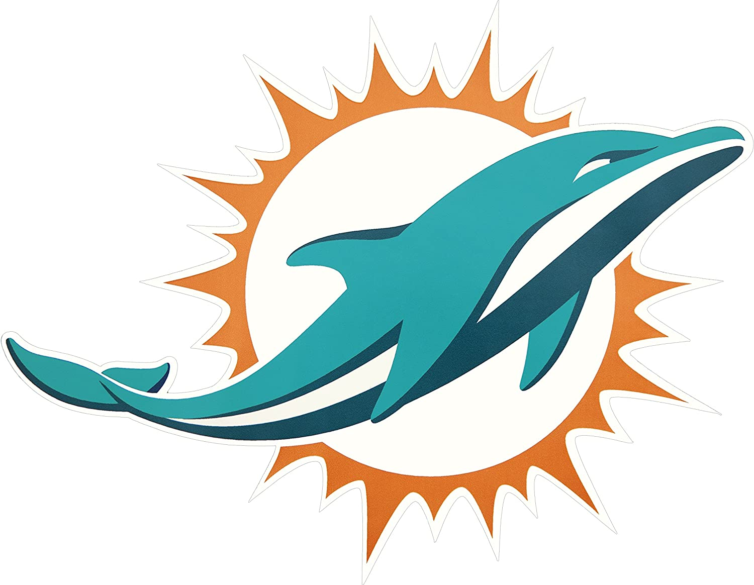 Applied Icon NFL Miami Dolphins Outdoor Large Primary Logo Graphic Decal