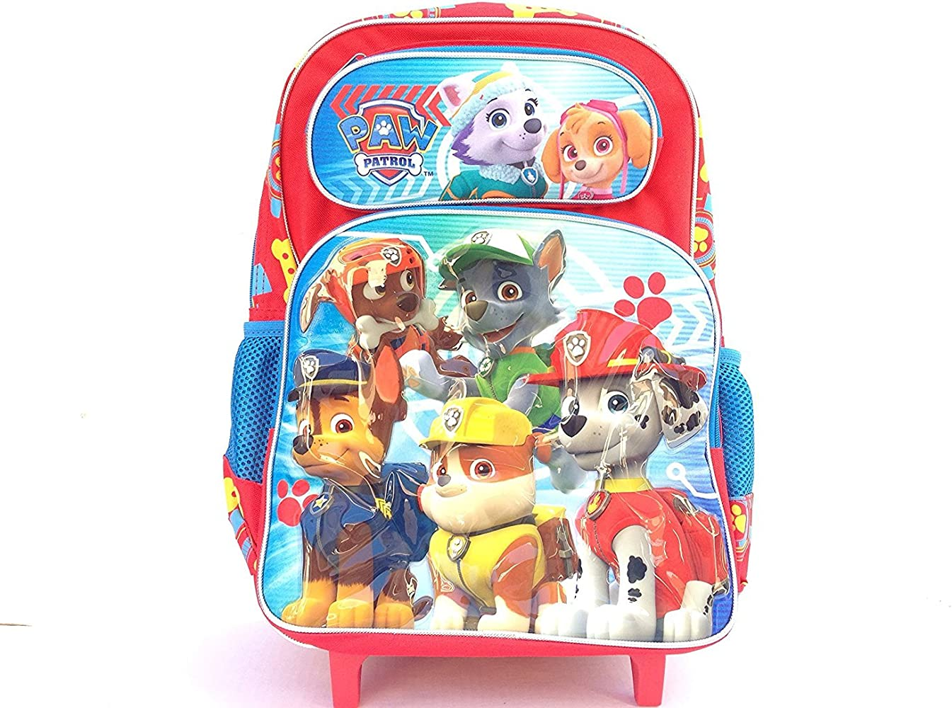 Nickelodeon Paw Patrol Large 16 Inch Rolling Backpack A06007, Red, Large