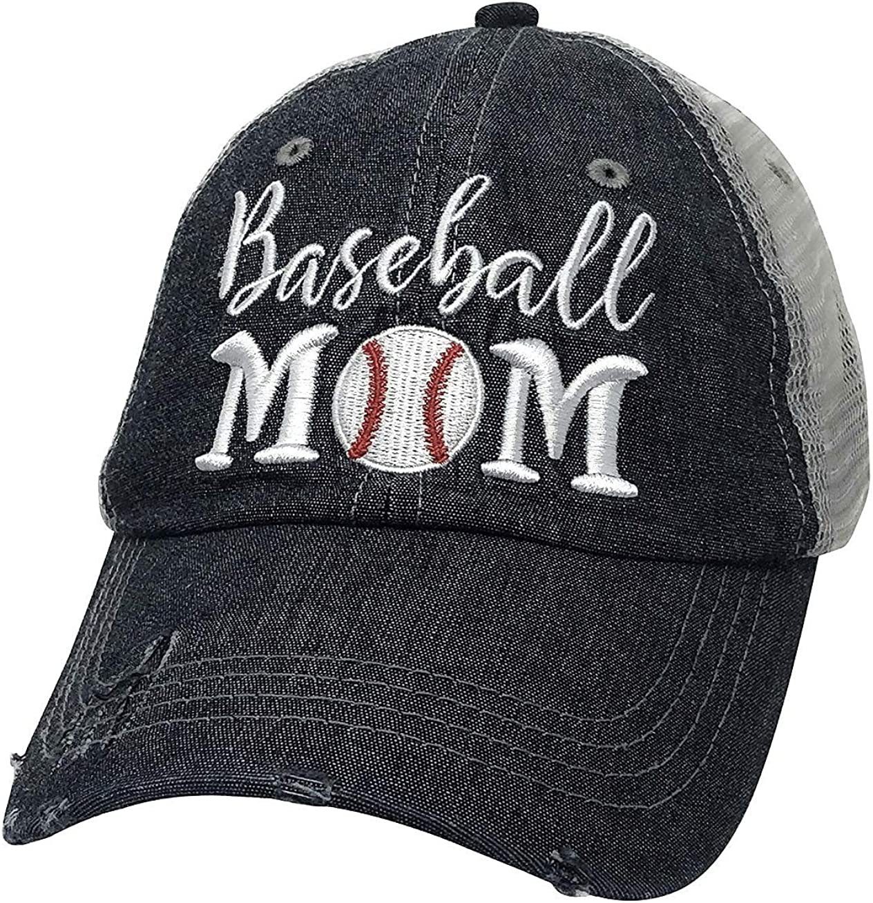 Cocomo Soul Embroidered Baseball Mom Mesh Trucker Style Hat Cap Dark Grey