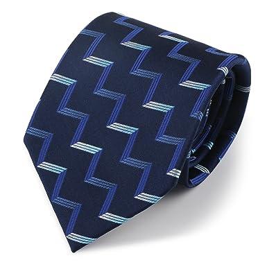 Segbeauty® Azul Marino Tejido Jacquard Seda Corbata Tradicional ...