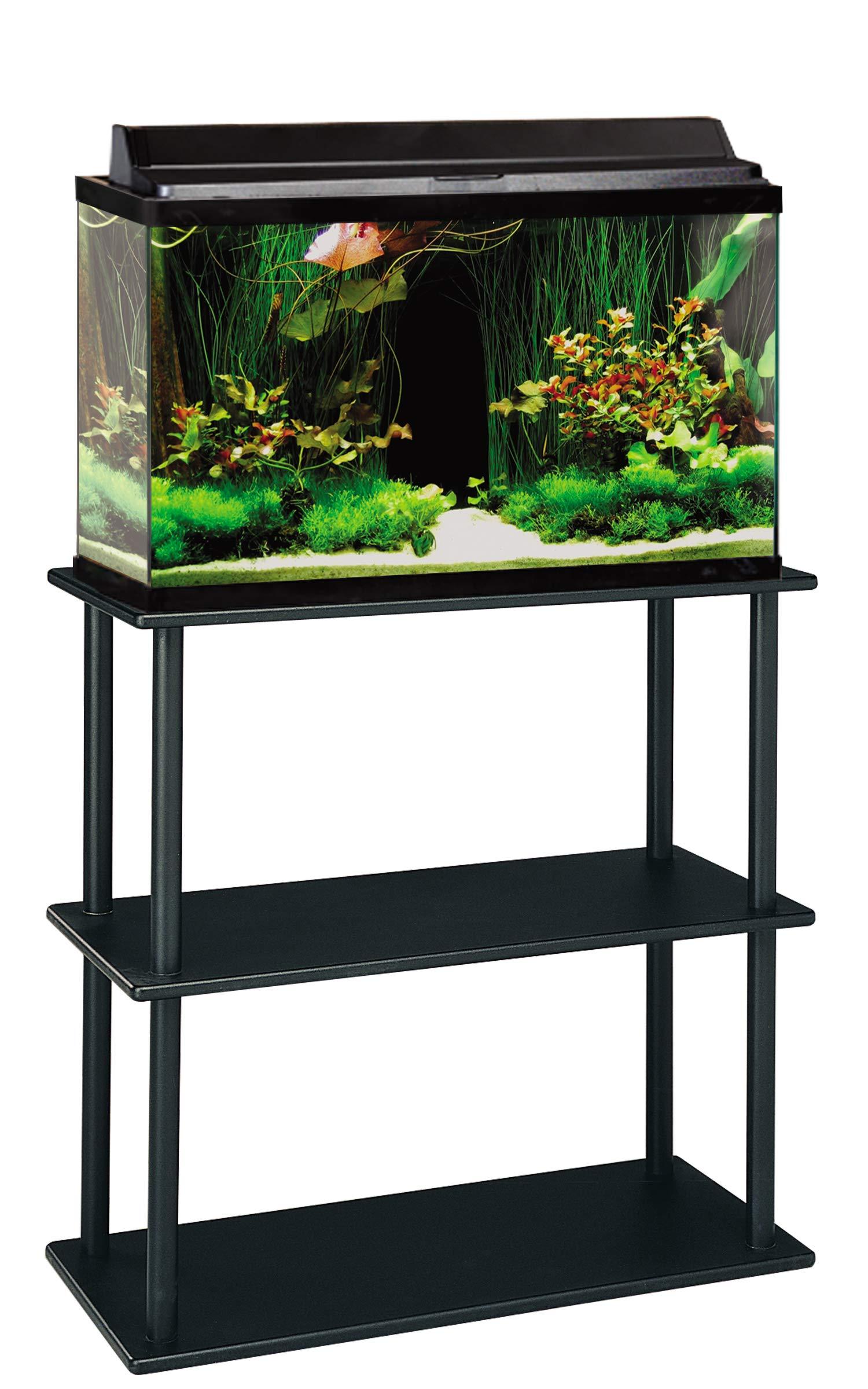 Aquatic Fundamentals Aquarium Stand, 20 Gallon, Black
