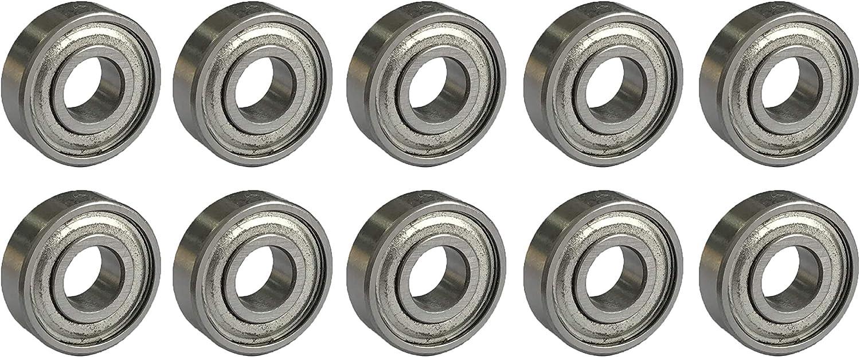 10 unidades, 688 zz, 8 x 16 x 5 mm Sky-w Rodamientos de bolas de ranura profunda en miniatura