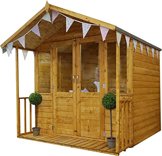 Green Planet UK - Caseta de verano tradicional de madera de 7 x 7 ...