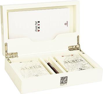 Juego Albus Pisus - Caja, 2 mazos, libreta y lápiz - Blanco: Amazon.es: Juguetes y juegos