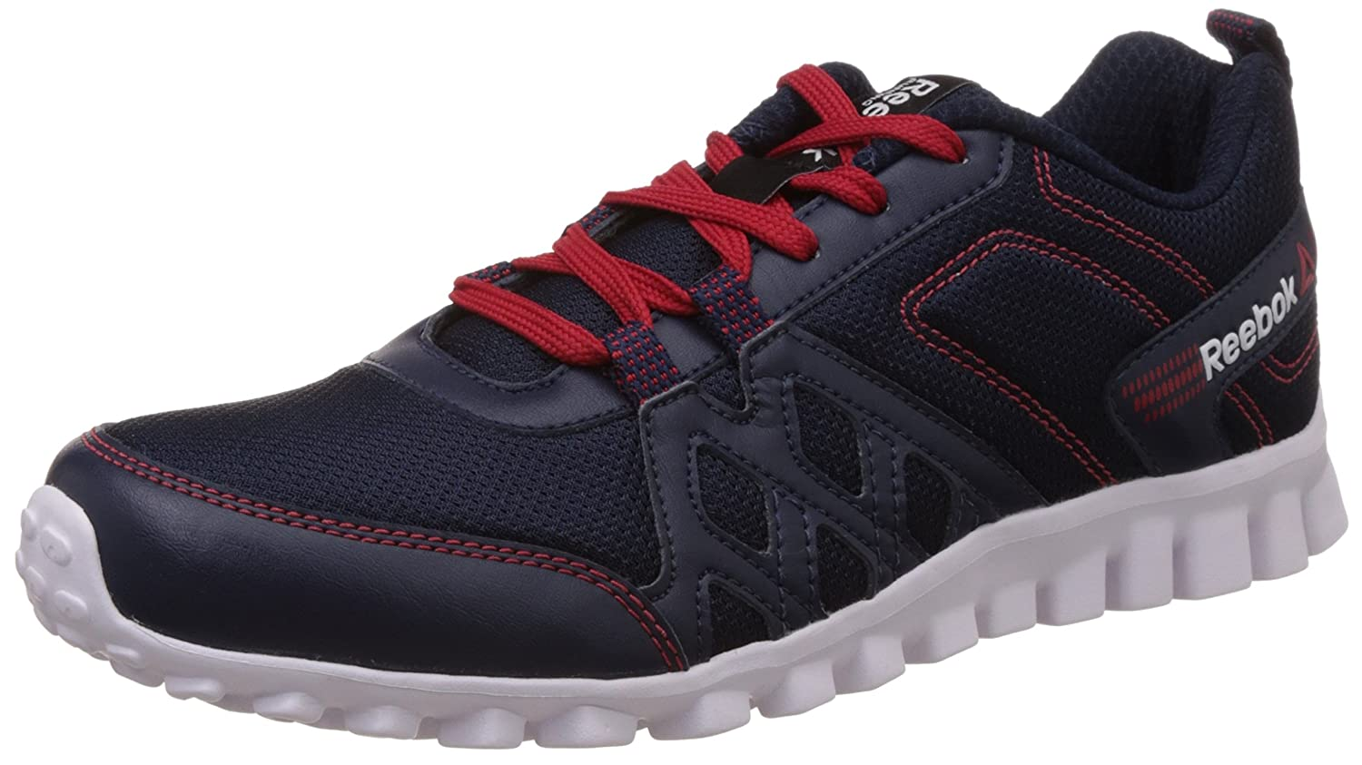 size 40 7b73d 4a45d Reebok Boy s Run Fusion 2.0 Jr Dark Blue, Red Rush and White Sports Shoes -  5.5 UK  Buy Online at Low Prices in India - Amazon.in