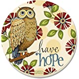 "CounterArt Absorbent Coasters, ""Wise Owl"", Set of 4"