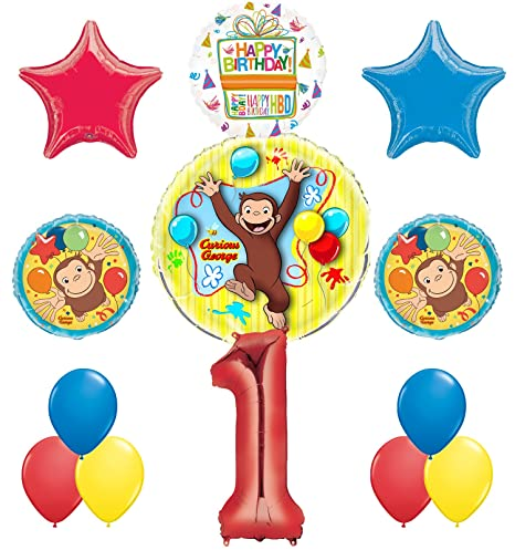 Image Unavailable Not Available For Color Curious George 1st Birthday Party Supplies