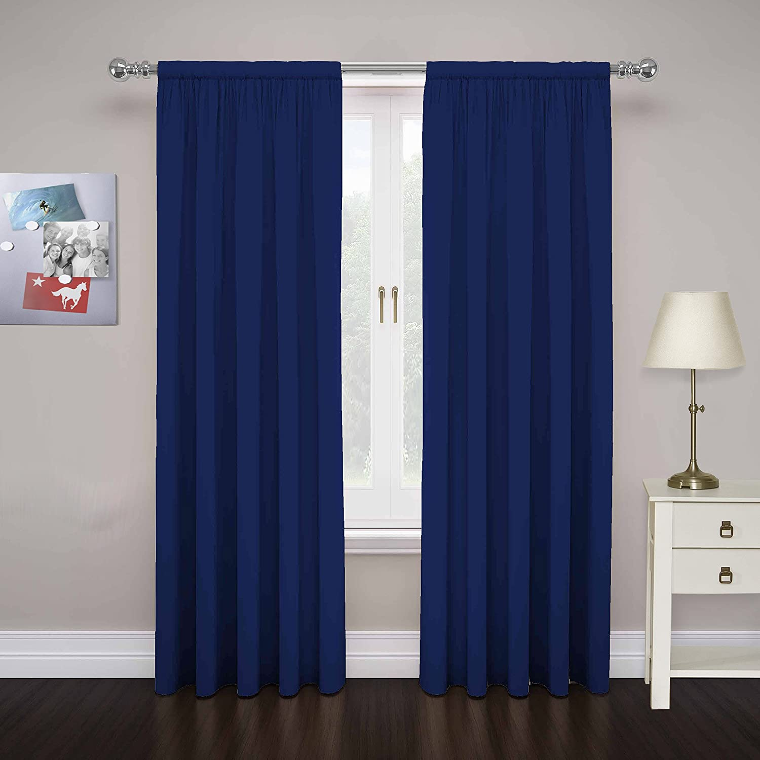 Cobalt blue curtains - Amazon Com Pairs To Go 15110080x084tel Cadenza 80 Inch By 84 Inch Microfiber Window Panel Pair Teal Home Kitchen