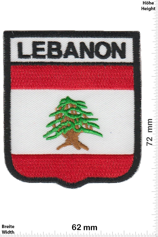 Patch-Iron-Lebanon - Libanon - Wappen - - Lä nder - - Iron On Patches - Aufnä her Embleme Bü gelbild Aufbü gler