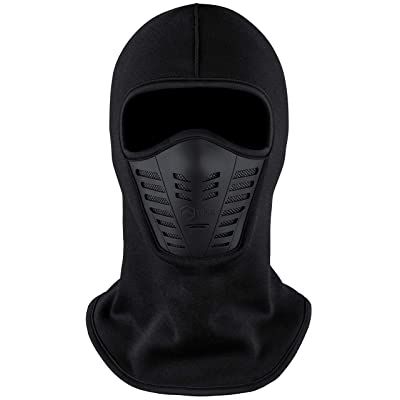 Balaclava Ski Mask - Cold Weather Face Mask with Air Vents for Men & Women - Fleece Hood Snow Gear for Skiing, Snowboarding, Motorcycle Riding & Winter Sports. Ultimate Protection from The Elements.: Automotive