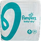 Pampers Baby Dry, 124 Pannolini, Taglia 6 (15-30 kg)