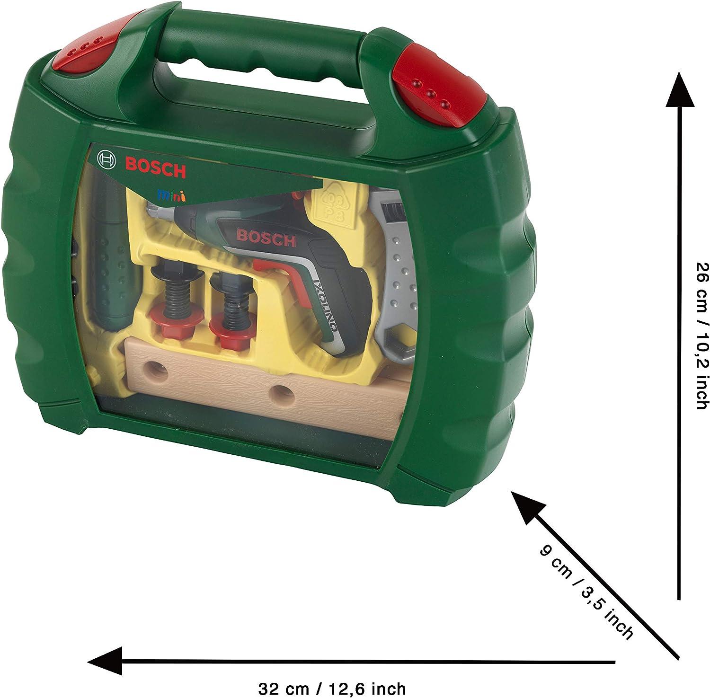Theo Klein 8394 MaletínIxolino de Bosch, Con martillo, llave inglesa y mucho más, Destornillador eléctrico Ixolino a pilas, a partir de 3 años, 26,6 cm x 32 cm x 8,8 cm: Amazon.es: Juguetes y juegos