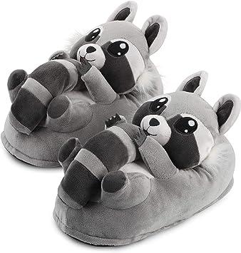 UMIPUBO Pantofole Donna Peluche Animali Pantofole Morbido Caldo in Inverno Halloween Cosplay Ciabatte