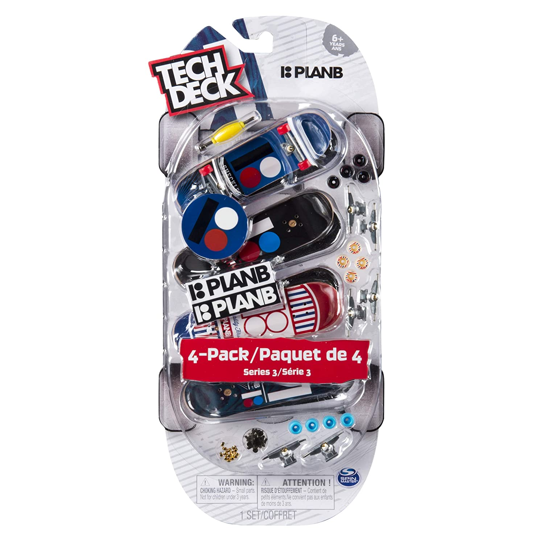 Tech Deck 96mm Fingerboards 4 Pack Plan B