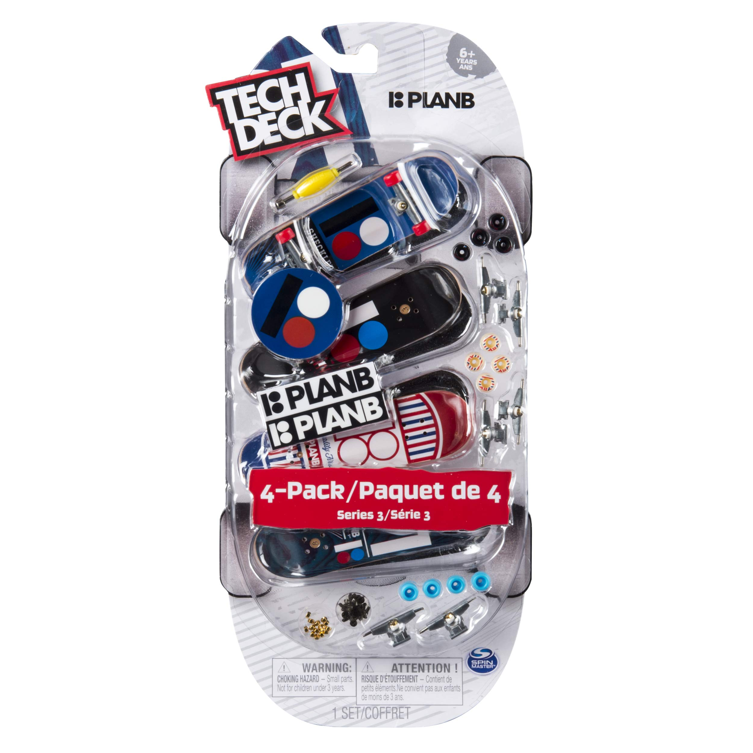 Tech Deck - 96mm Fingerboards - 4-Pack - Plan B